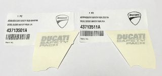 Sticker DUCATI SAFETY PACK silver