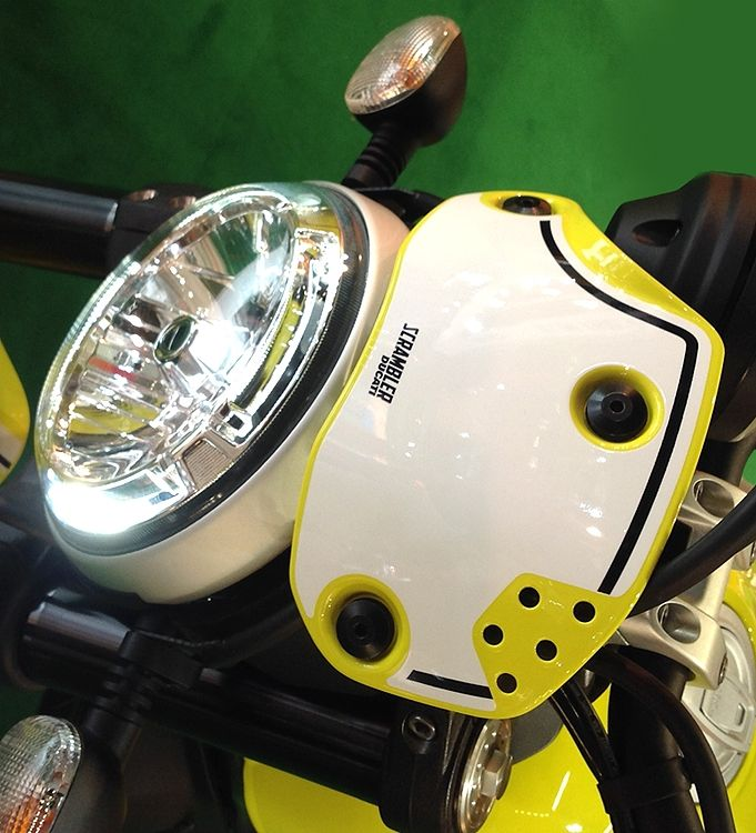 Decal Sticker Front Fairing White Ducati Scrambler