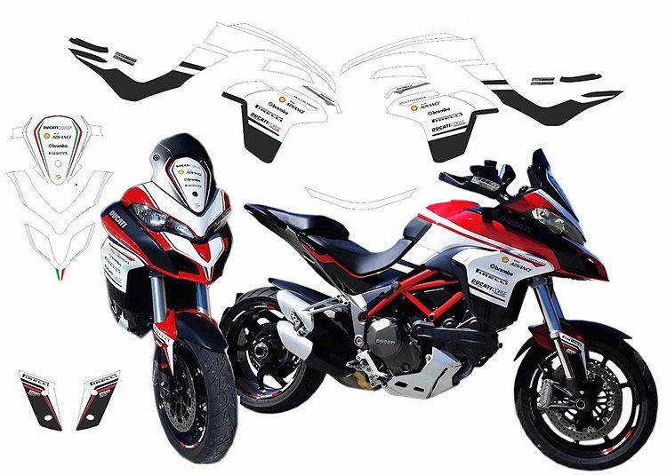 sticker kit for ducati multistrada 1200 2015/2017 custom design