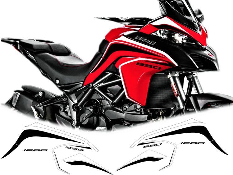 Stickers Kit For Red Bikes Ducati Multistrada 950