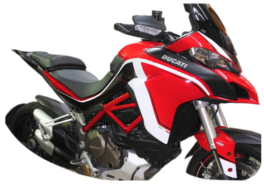 Sticker Set In White Black Stripes In Black For Ducati Multistrada 12601200