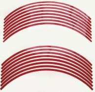 Aufkleber Felgenrand in Rot für 2 Felgen