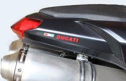 Aufkleber Ducati mit ital. Flagge  (Paar)