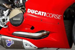 sticker white Ducati corse LONG 380x40mm