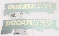 Aufkleber weiß Ducati Corse LANG 380x40mm
