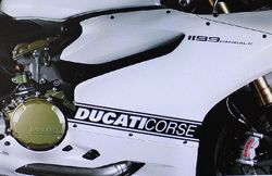 Decals stickers kit side panels  Ducati corse (pair)