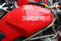 Aufkleber Ducati classik in weiß