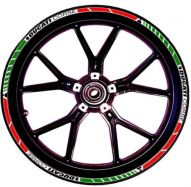 decal sticker kit wheel stripes red / white / green for Ducati