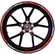 decal sticker kit wheel stripes red / white / black for Ducati