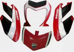 decal sticker kit in white/black Corse for Ducati Hypermotard 796 1100