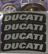 Aufkleber DUCATI 8mm x 80mm für Reifen