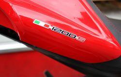Aufkleber 1200s mit Italienische Flagge (3D) für Sitzbank