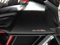 Sticker 3D schild DIAVEL CARBON