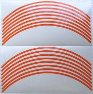 Sticker decal stripes set in orange for wheels