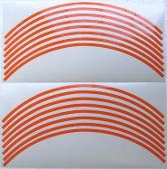 Aufkleber Felgenrand in Orange