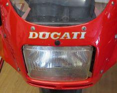 Aufkleber Ducati Verkleidung vorne in silber mit goldenem Rand 142x17mm Stückpreis