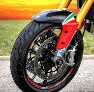 Aufkleber Felgenrand Ducati corse rot mit ital. Flagge