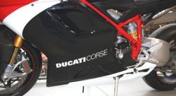 DUCATI CORSE white sticker 340mmx35mm