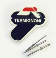 Targhetta Logo Termignoni 75x75mm price for 1 piece