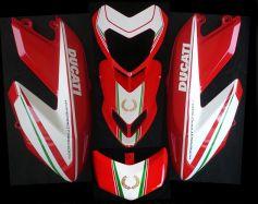 Aufklebersatz Tricolore für Ducati Hypermotard 796 1100