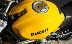 Aufkleber Ducati in dunkelgrau150x25mm z. B. auf Monster-Tank