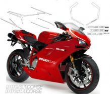 decal sticker kit evolution silver for Ducati 848 1098 1198