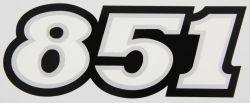 851 Schriftzug Verkleidung 130mmx50mm