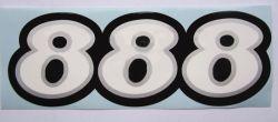 888 Schriftzug Verkleidung 142mmx50mm
