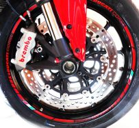 Decals Stickers red stripes Ducati corse