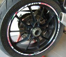 Aufkleber Felgenrand Ducati Performance Satz weiß mit ital. Flag