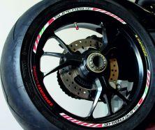 Felgenaufklebersatz superbike ducati corse marchesini tricolore