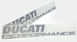 Decal Sticker Ducati Performance silver Pair