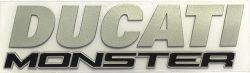 Emblem (3D) DUCATI Monster 821/1200S Ducati silber, Monster schwarz