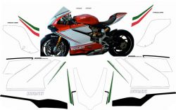 decal sticker kit Tricolore for Ducati 1299 Panigale