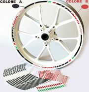 Decal Sticker set wheel stripes black, written red