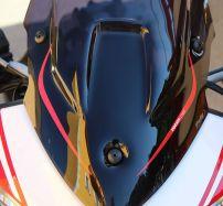 Aufkleber Ducati Corse Streifen rot auf Windschild