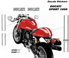 Aufkleber - Set Streifen Ducati sport 1000 sportclassic GT1000