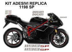 Aufkleber Ducati 1198SP Set in aluminium gebürstet