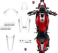 decal sticker kit white/silver Monster 1200R