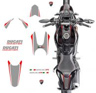 decal sticker kit gray/red Monster 1200R