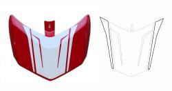Aufkleber - Set Streifen für Sitzhöcker-Abdeckung Ducati 796/1100
