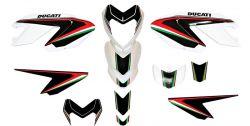 Aufkleber Set tricolore/schwarz für Ducati Hypermotard 796/1100