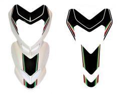 Aufkleber tricolore/schwarz Front Ducati Hypermotard 796/1100