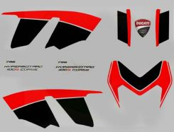 decal sticker kit in red/black Corse for Ducati Hypermotard 796 1100