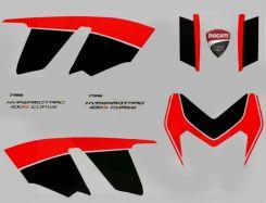 Aufklebersatz Rot/Schwarz Corse Edition für Ducati Hypermotard 796/1100