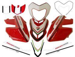 Aufkleber Set tricolore for Ducati Hypermotard 796/1100
