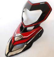 Aufkleber Set in Rot/Ducati Logo für Front Ducati Hypermotard 796/1100