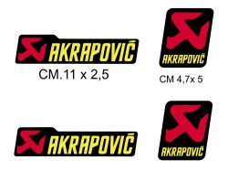 Kit 4 stickers Akrapovic