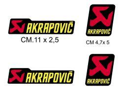 Aufkleber Akrapovic 4 Stücke