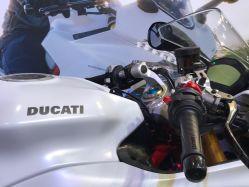 Aufkleber Ducati für Weiße Motorräder Tank